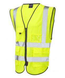 executive hivis waistcoat yellow