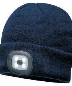 Portwest LED Beanie USB Rechargeable Head Light Torch Winter Cap Work Hat B029