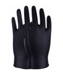 Maxim Black disposable nitrile gloves